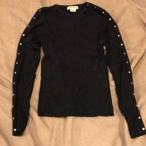 SZ S Michael Kors silver studded sweater
